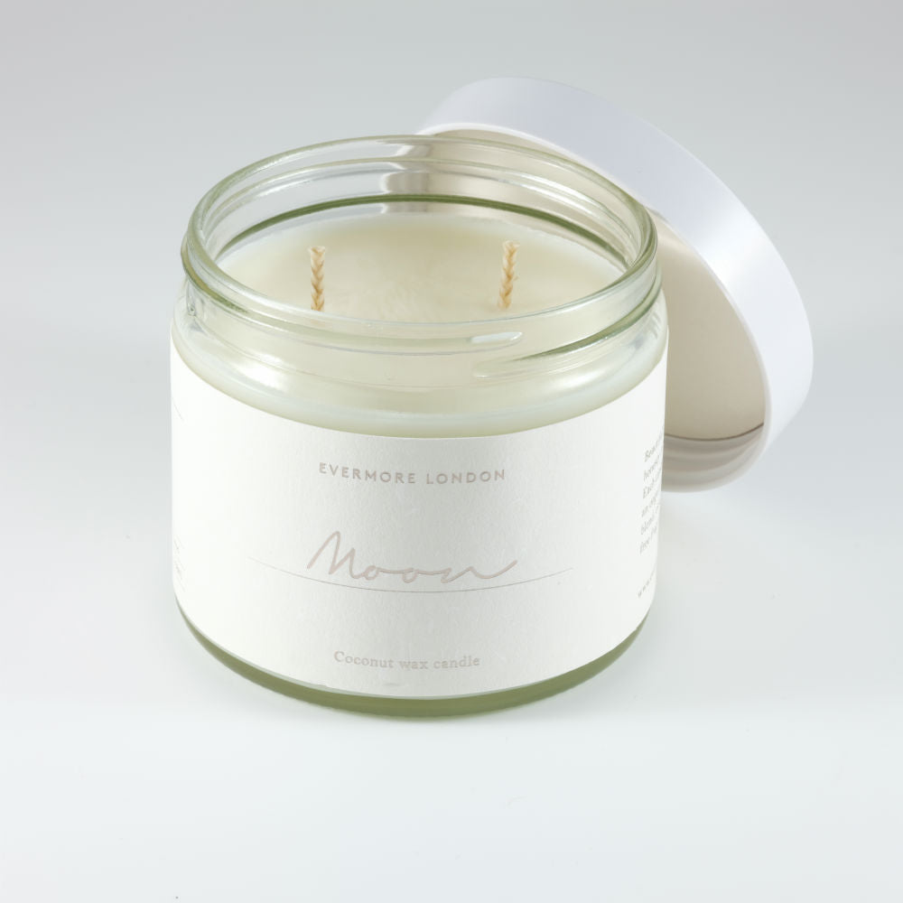 Moon Hand Poured Organic Coconut Wax Candle - 250ml - Basics and Organics