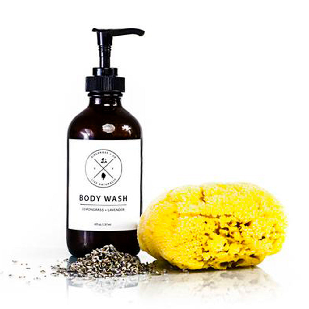 Fresh Organic Lemongrass + Lavender Body Wash - Basics and Organics