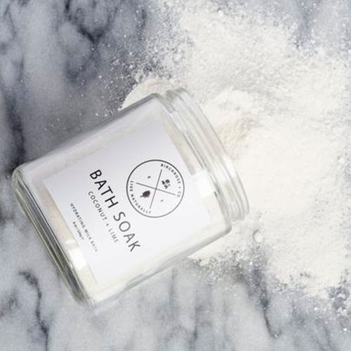 Hydrating Botanical Bath Soak - Coconut + Lime - Basics and Organics