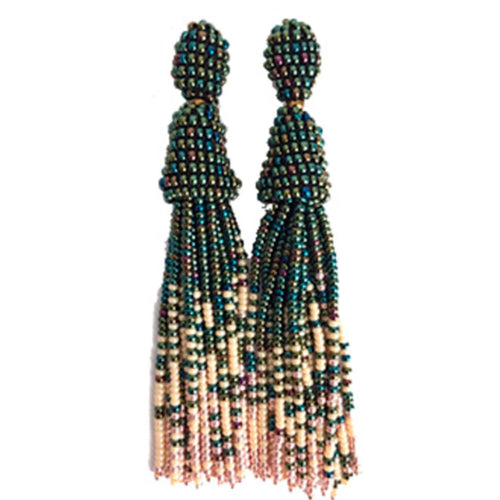 Vera Chaang Alejandría Long Handmade Earrings - Basics and Organics