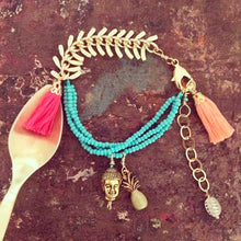 Vera Chaang Bandhu Handmade, Metal and Tassels Bracelet - Basics and Organics