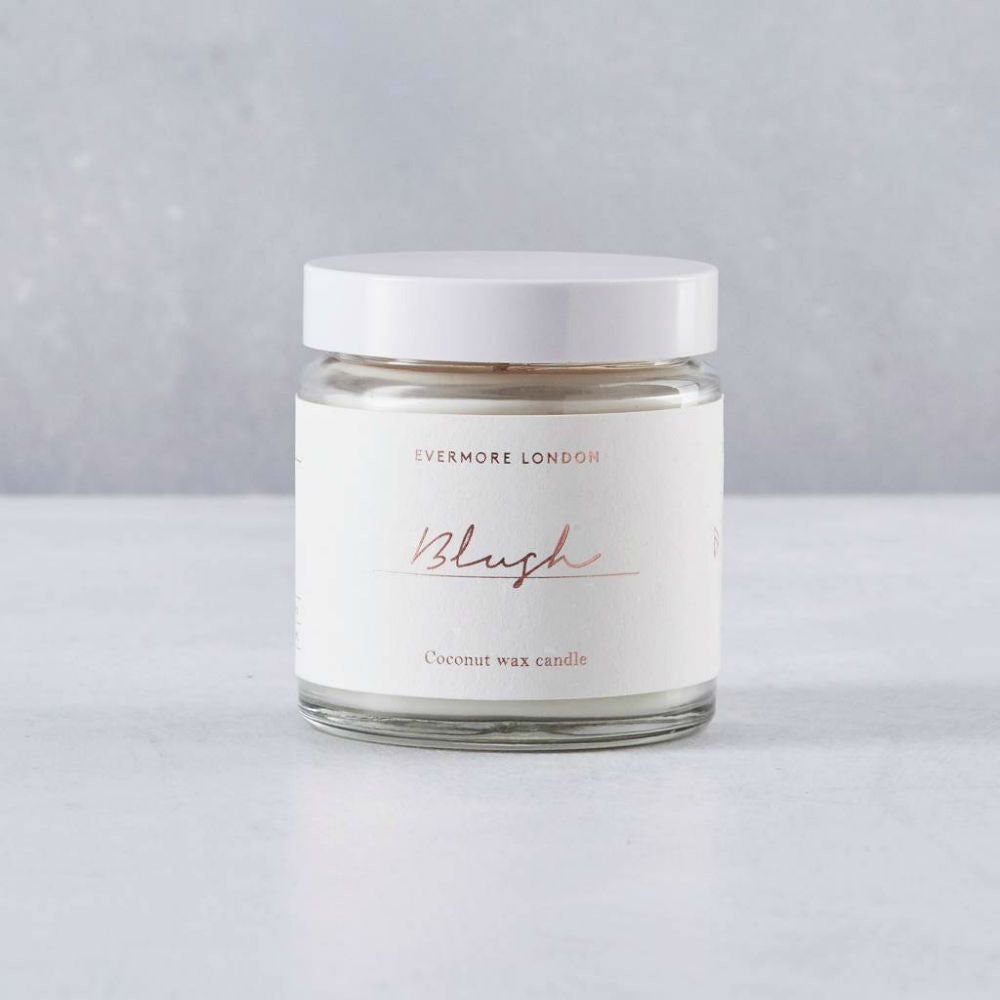 Blush Hand Poured Organic Coconut Wax Candle-  120 ml - Basics and Organics