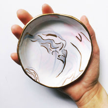 Inlaid Handmade Gold & Pink Jewelry and Ring Dish - Basics and Organics