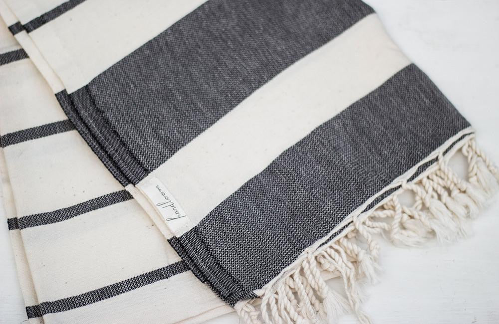 Turkish Handwoven Beach Towel - Basics and Organics