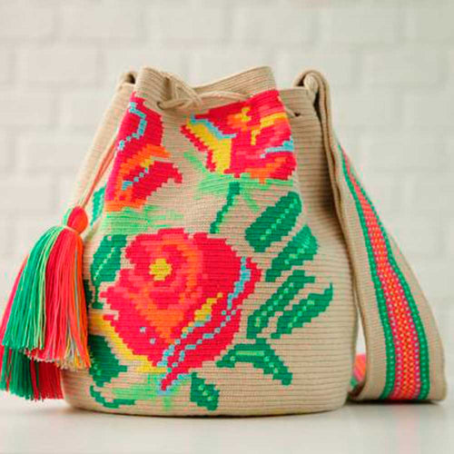 Flore Ethnic Handmade Colombian Wayuu Bag - Basics and Organics
