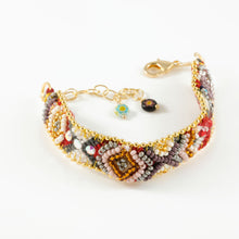 Vera Chaang Guadalupe, Hand Woven Cotton and Crystals Bracelet - Basics and Organics