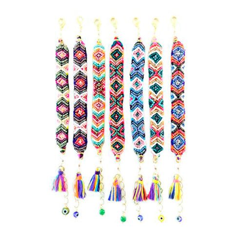 Maya Handwoven Wayu Colorful Cotton Embellished Bracelet - Basics and Organics