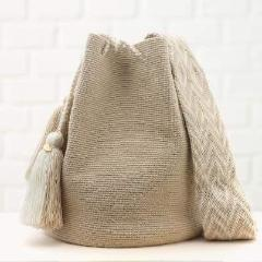 Chila Nina Handmade Colombian Bag in beautiful neutral colors  - Basics and Organics