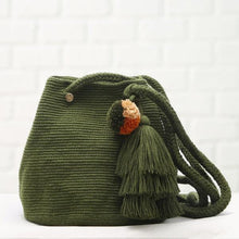 Chila Handmade OBelisco Bag in Olive color