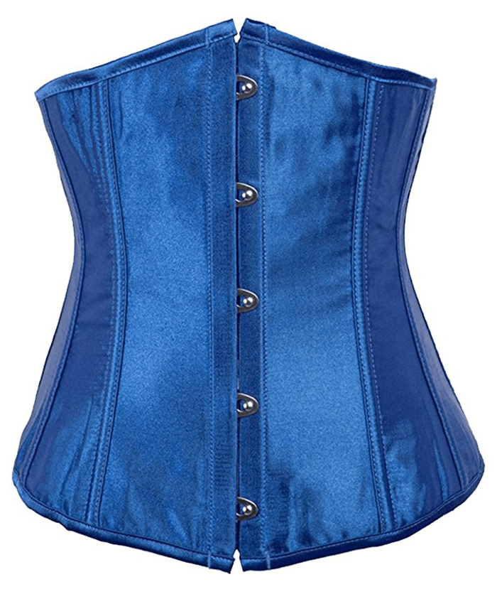 Alivila.Y Fashion Women's Blue Sexy Satin Vintage Waist Trainer