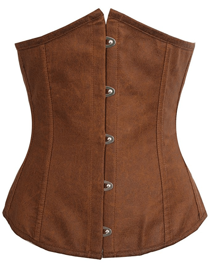 Alivila. Y Fashion Women's Brown Sexy Satin Vintage Waist Trainer