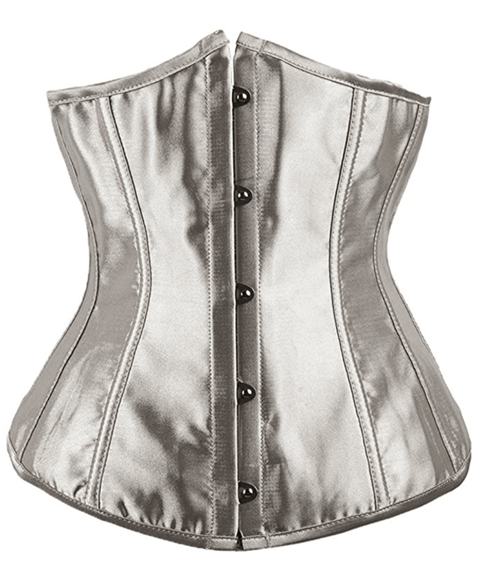 Alivila.Y Fashion Women's Gray Sexy Satin Vintage Waist Trainer
