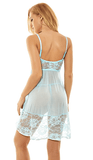 AdoreJoy Women's Light Blue Sexy Babydoll Lingerie Set