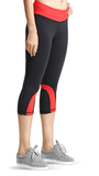 Baleaf Women's Red Yoga Capri