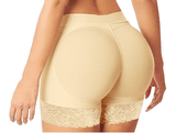 HelloTem Women's Beige Lace Padded Seamless Butt lifter