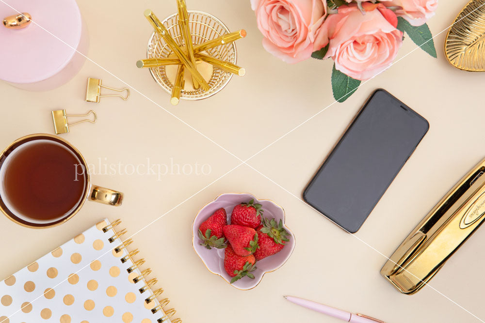 Blush & Gold Desk Collection - 02