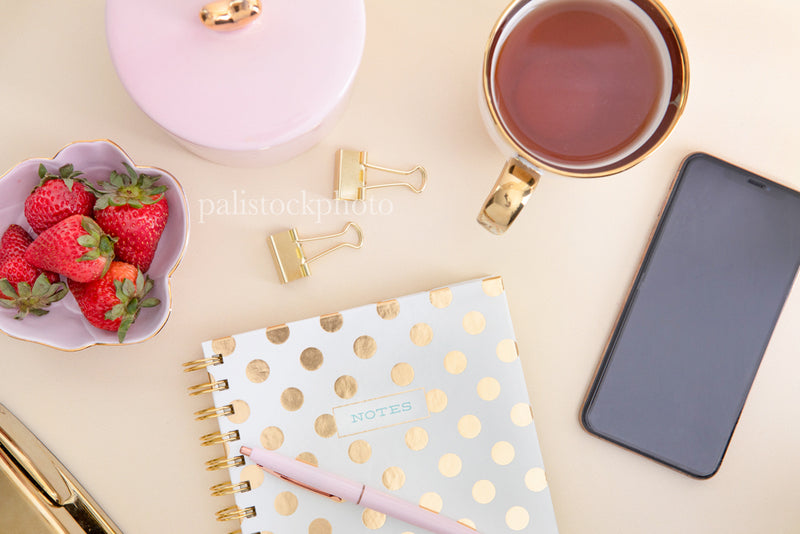 Blush & Gold Desk Collection - 03