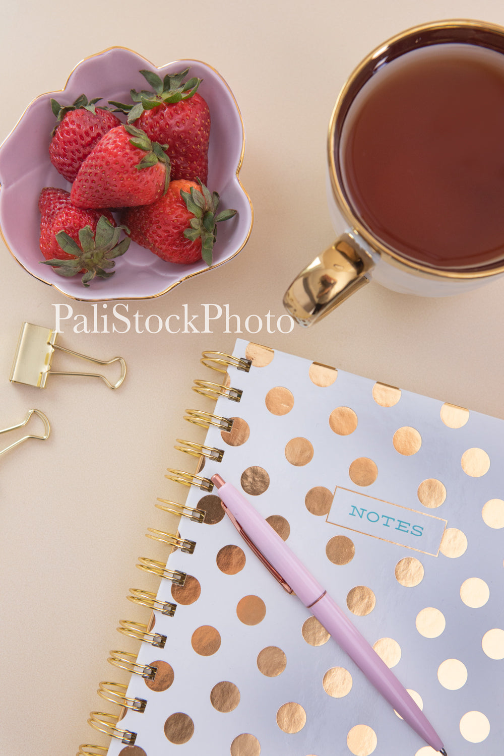 Blush & Gold Desk Collection - 04