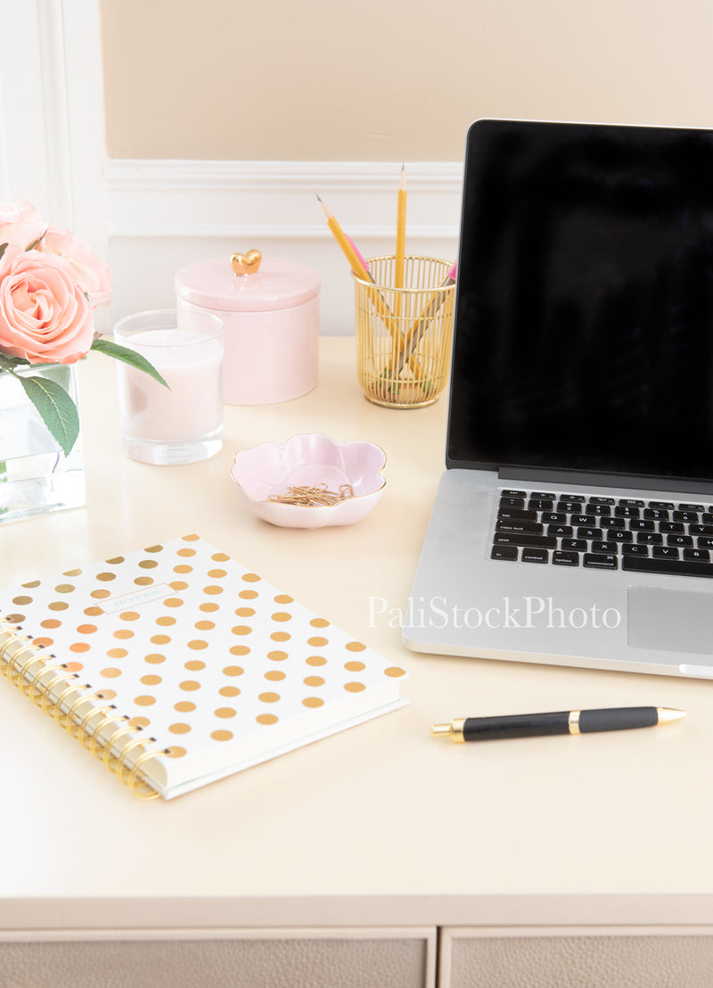 Blush & Gold Desk Collection - 05