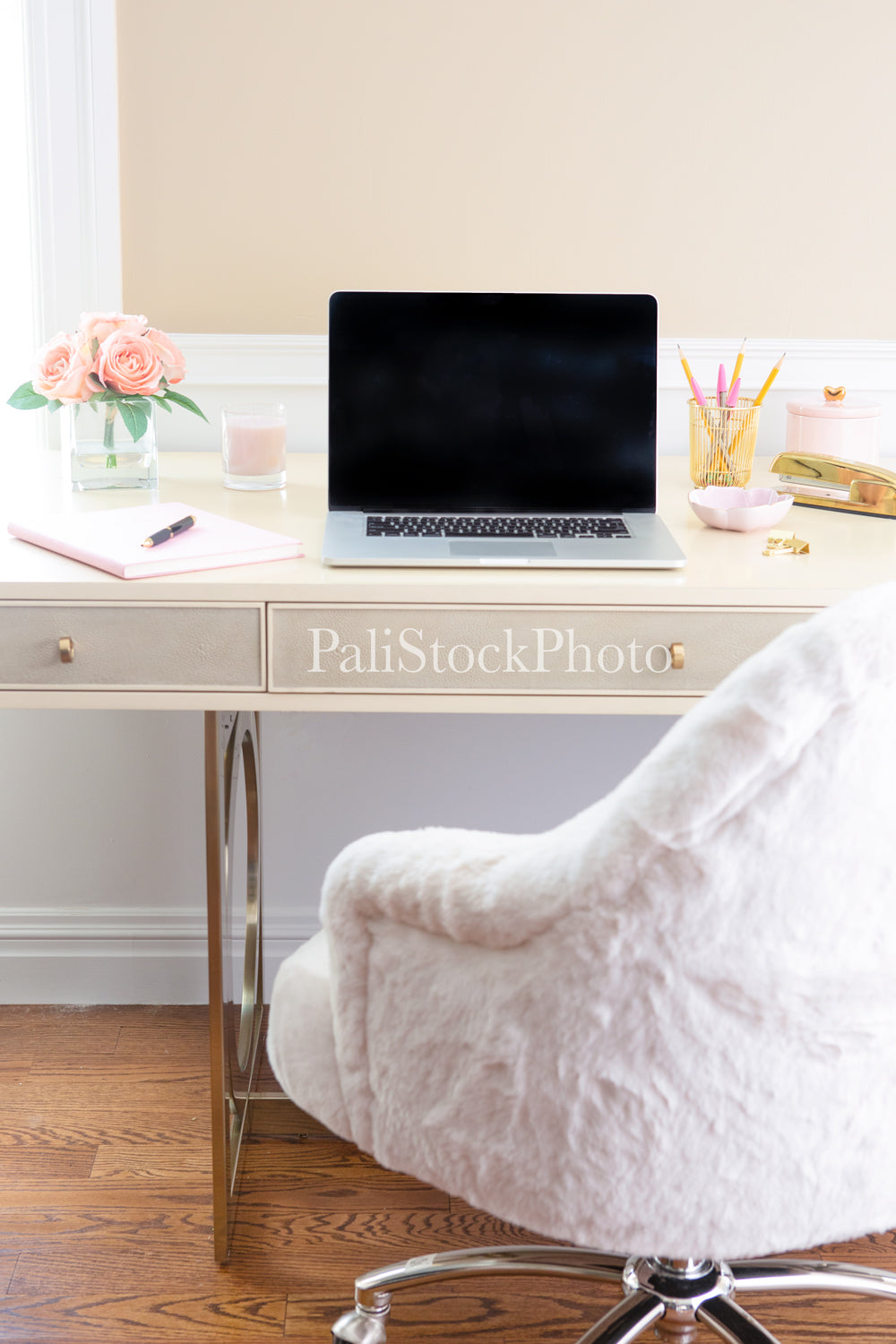 Blush & Gold Desk Collection - 07