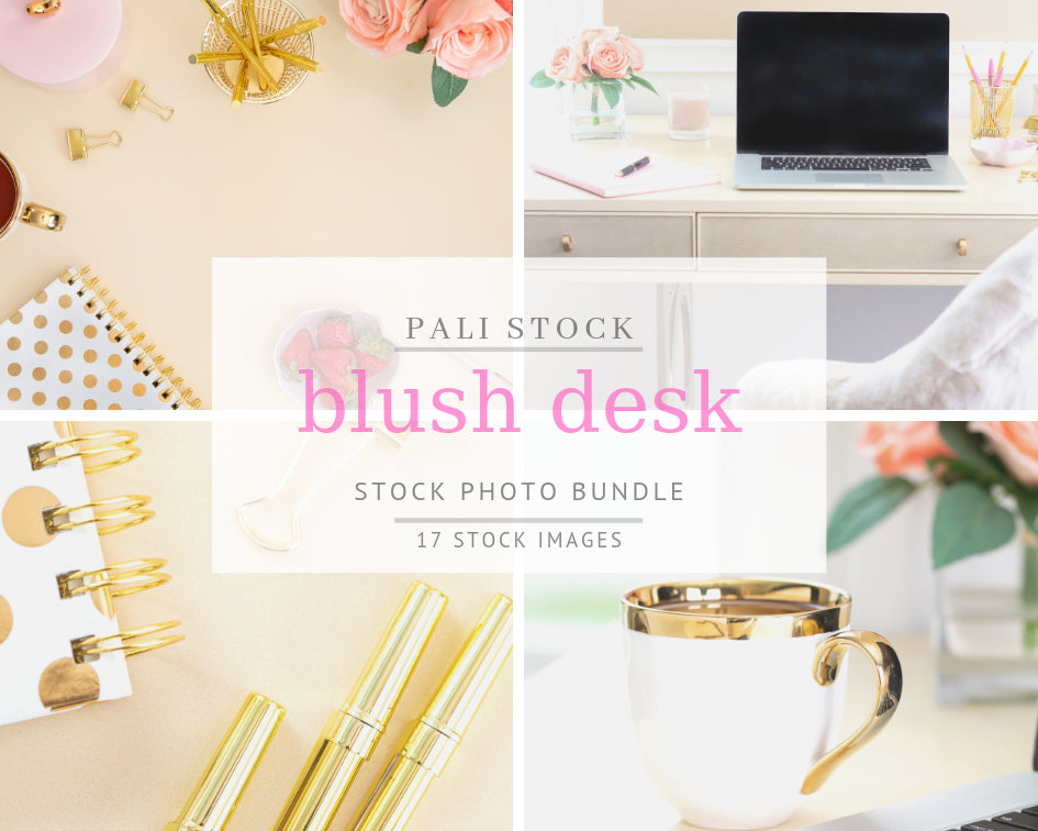 Blush & Gold Desk (17 Images)