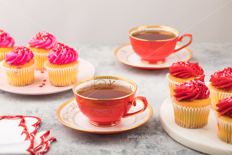 Valentine's Day Tea with Cupcakes