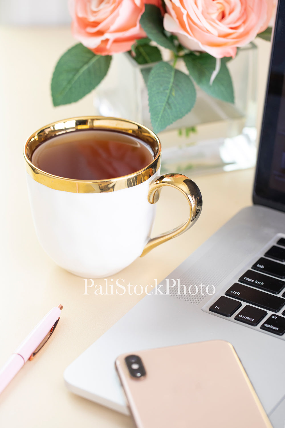 Blush & Gold Desk Collection - 09