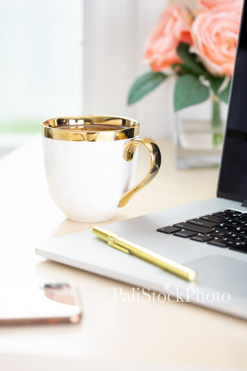 Blush & Gold Desk Collection - 11