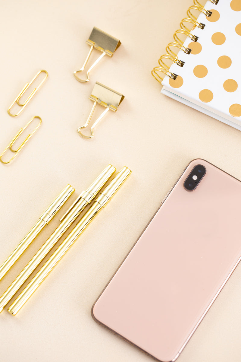 Blush & Gold Desk Collection - 14