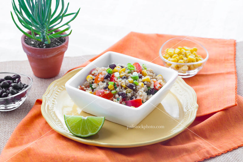 Rice and beans healthy salad