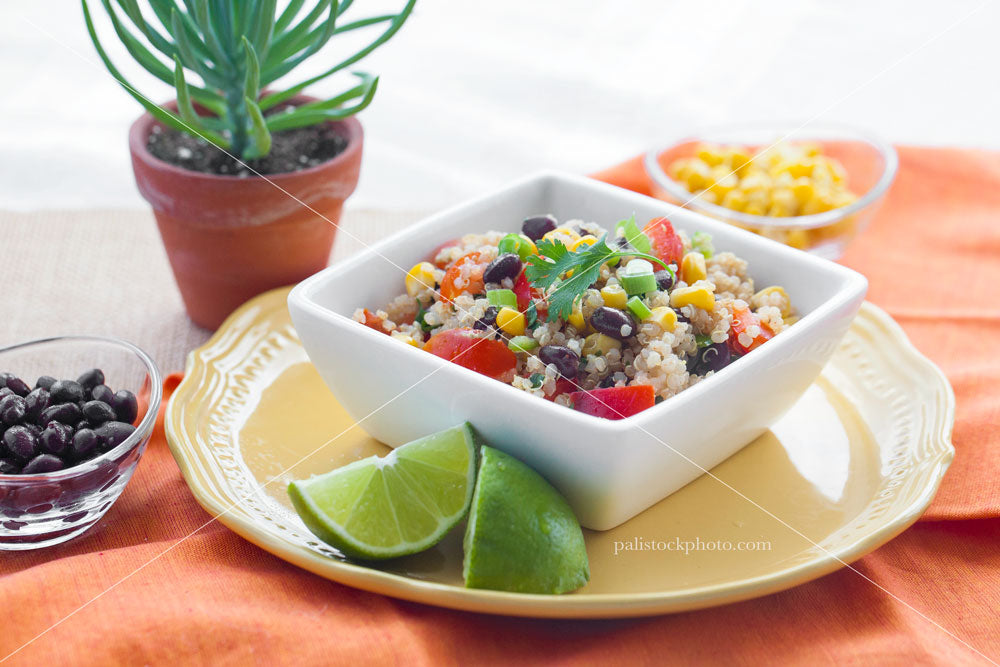 Rice and beans salad mexican