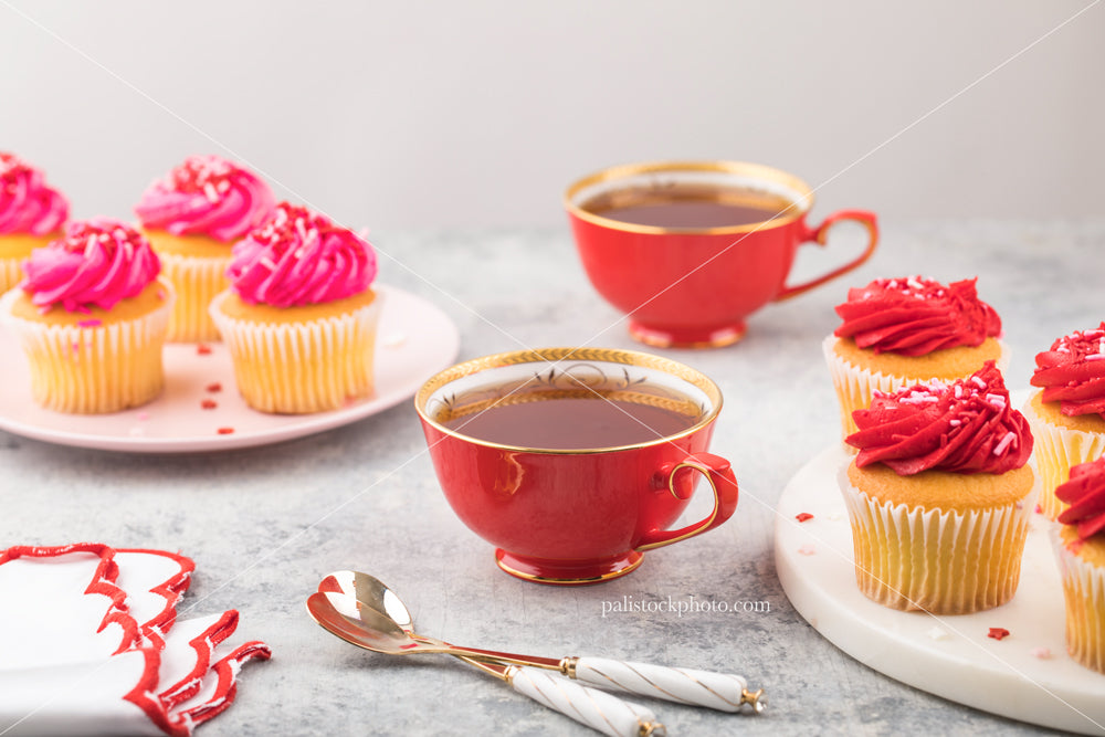 Valentine's Day Tea Party with Cupcakes