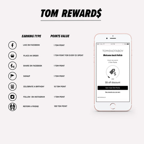 Tomisnotaboy rewards program