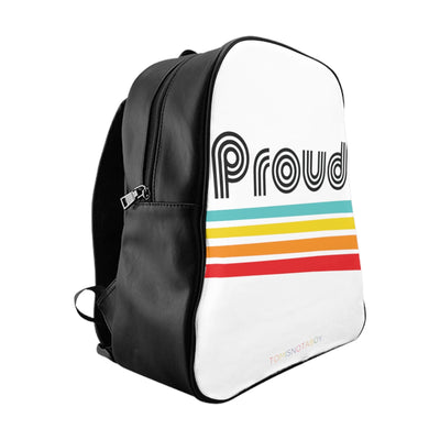 Faux Leather Proud Backpack