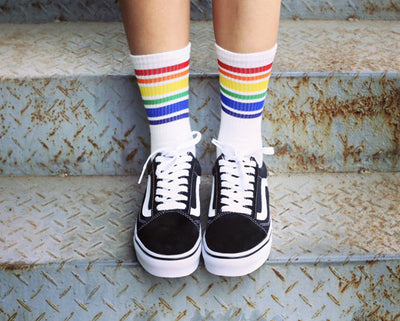 Rainbow Short Ankle Socks