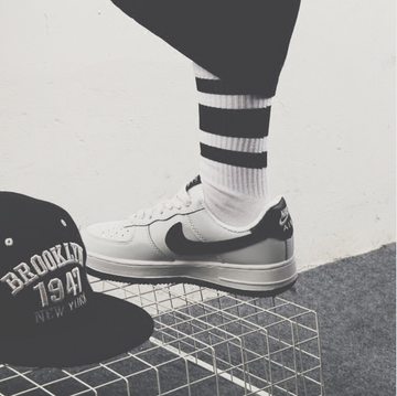 Black and White Skateboard Socks