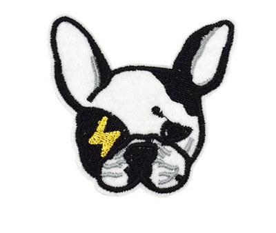 Frenchie Bowie -  Iron on Patches