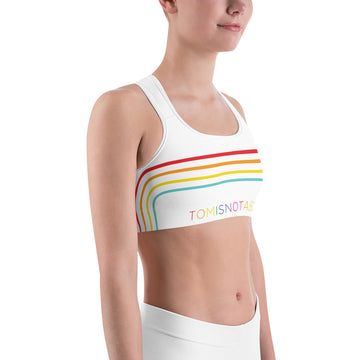 Tomisnotaboy Rainbow Sports bra