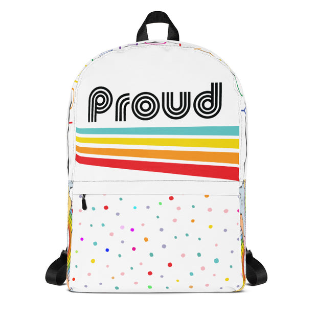 Rainbow and Confetti Laptop Backpack