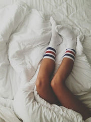 Classic Skater Socks - Red & Blue Stripes