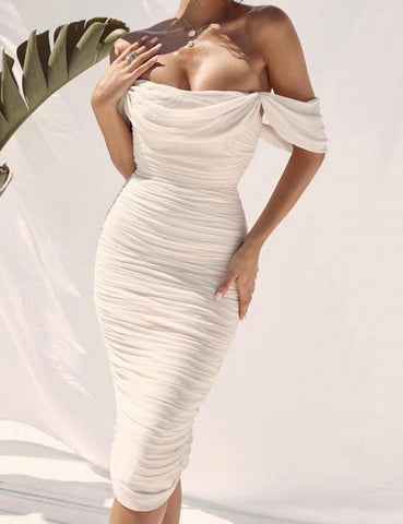 A Dream White Bandage Dress.