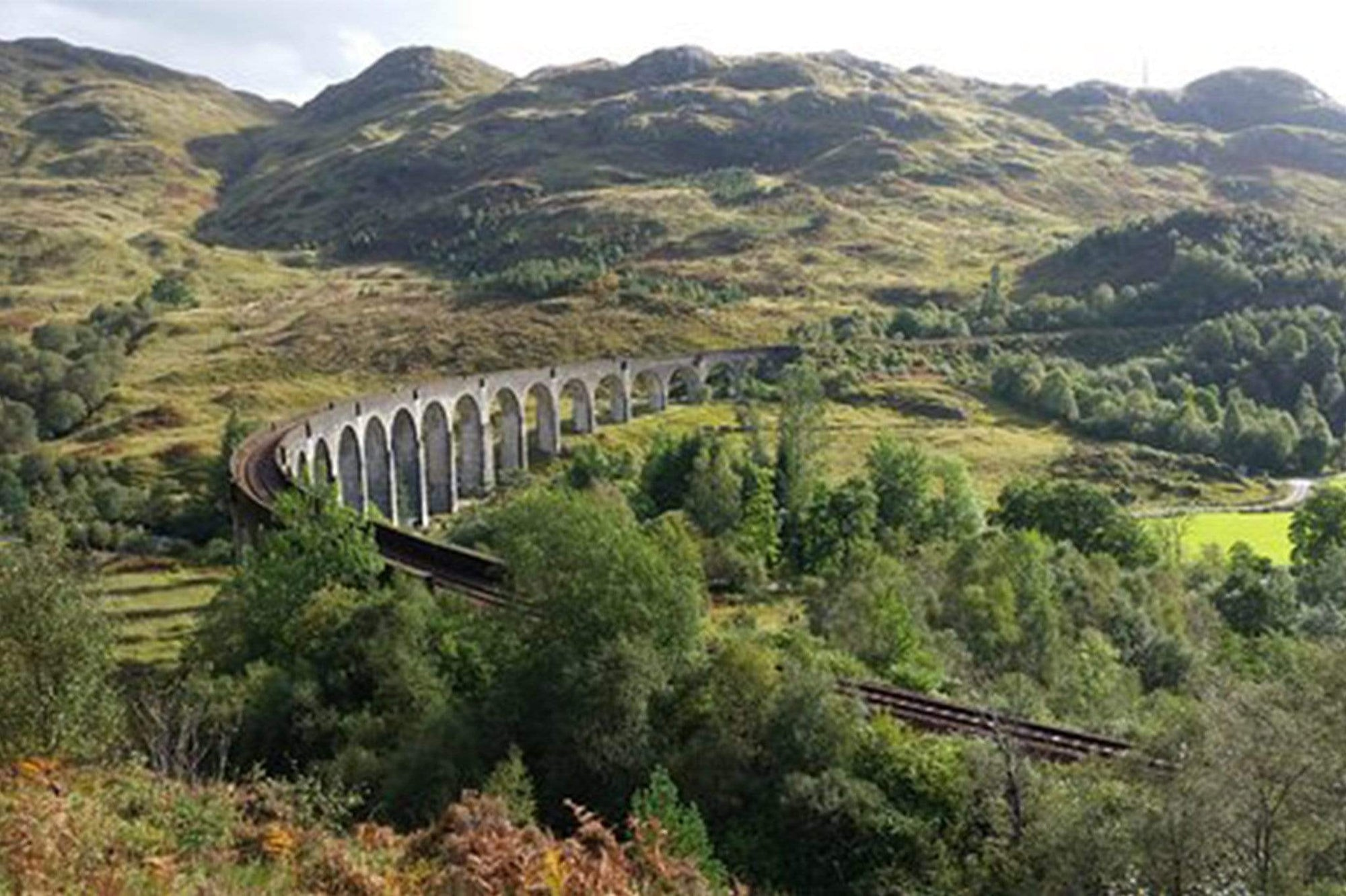 Glennfinnan Viaduct Walking Trail in Scotland