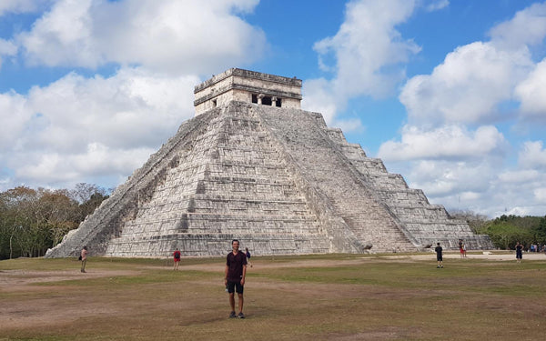 Hoodies in the Wild Pic at Chichen Itza in Mexico - Seven Modern Wonder of the World