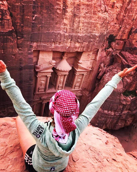 Hoodies in the Wild Pic at Petra in Jordan - Seven Modern Wonder of the World