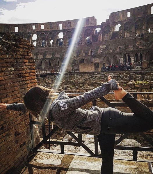 Hoodies in the Wild Pic at the Colosseum in Rome, Italy - Seven Modern Wonder of the World