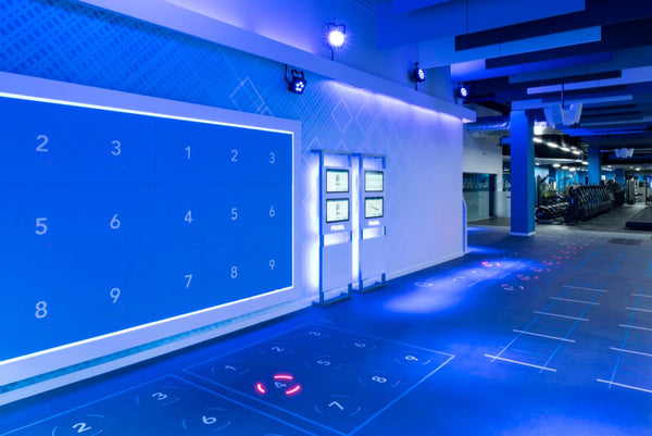 Better Gym's Interactive Fitness Wall in Belfast
