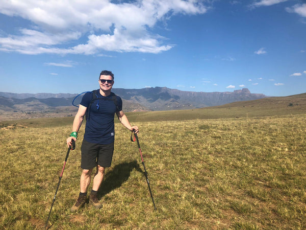 Brian O'Driscoll on Drakensberg Mountains for Just Challenge Trek