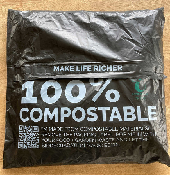 100% compostable packaging by Gym+Coffee