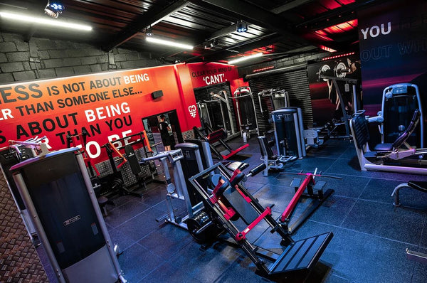Dedicated Fitness. A full view of their gym equipment and machinery.