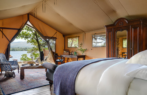 Dromquinna Manor glamping interior layout in Co. Kerry